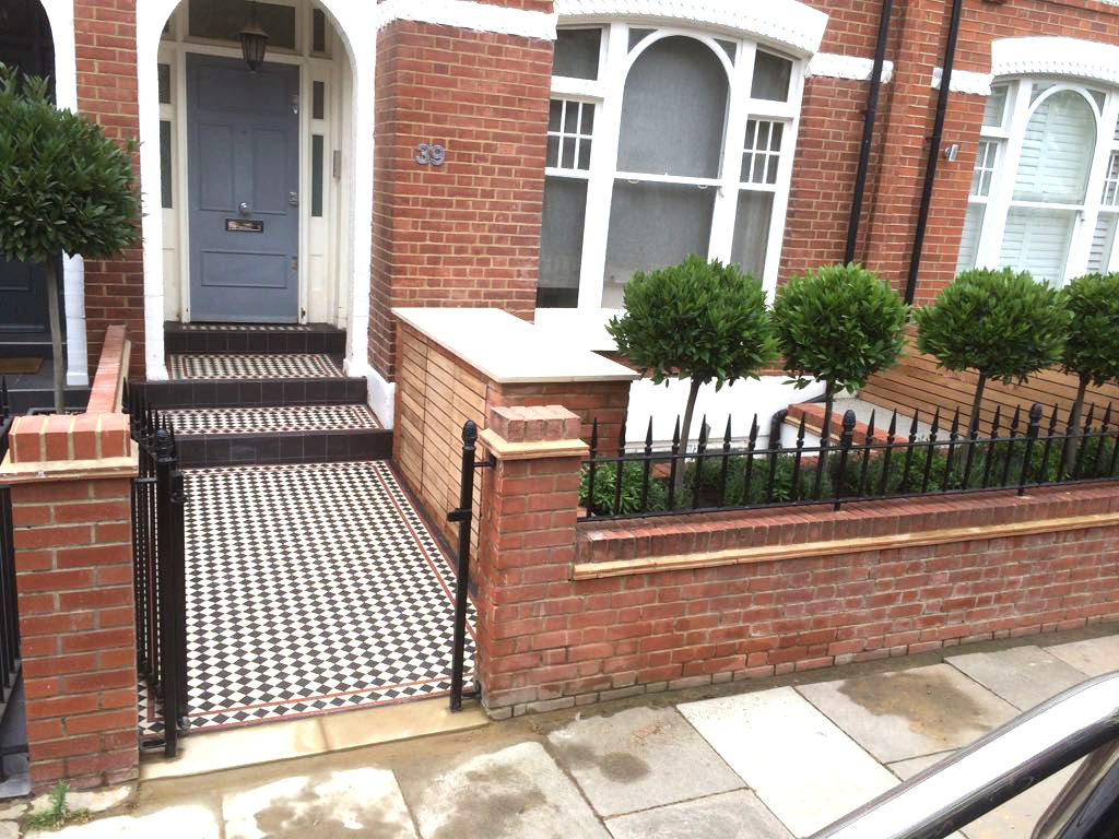 Victorian tiling with elegant trees in London